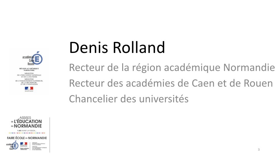 Introduction de M. le recteur Denis Rolland