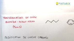 transformation en chimie organique aspect macroscopique