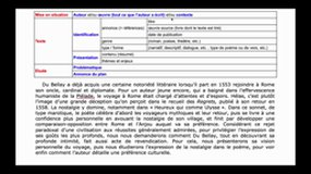 Méthode d'introduction de commentaire composé