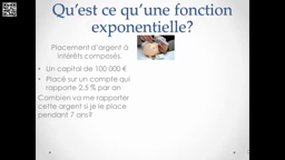 Fonction exponentielle introduction